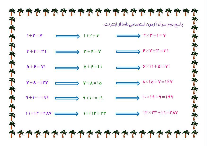 جواب سوال ناسا 1+2=7